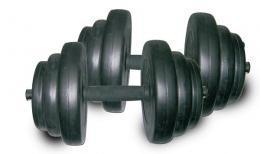 40 Lb Vinyl Dumbbell Set