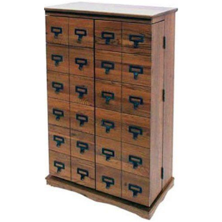 Leslie Dame Librarian's Mission Style Multimedia Cabinet