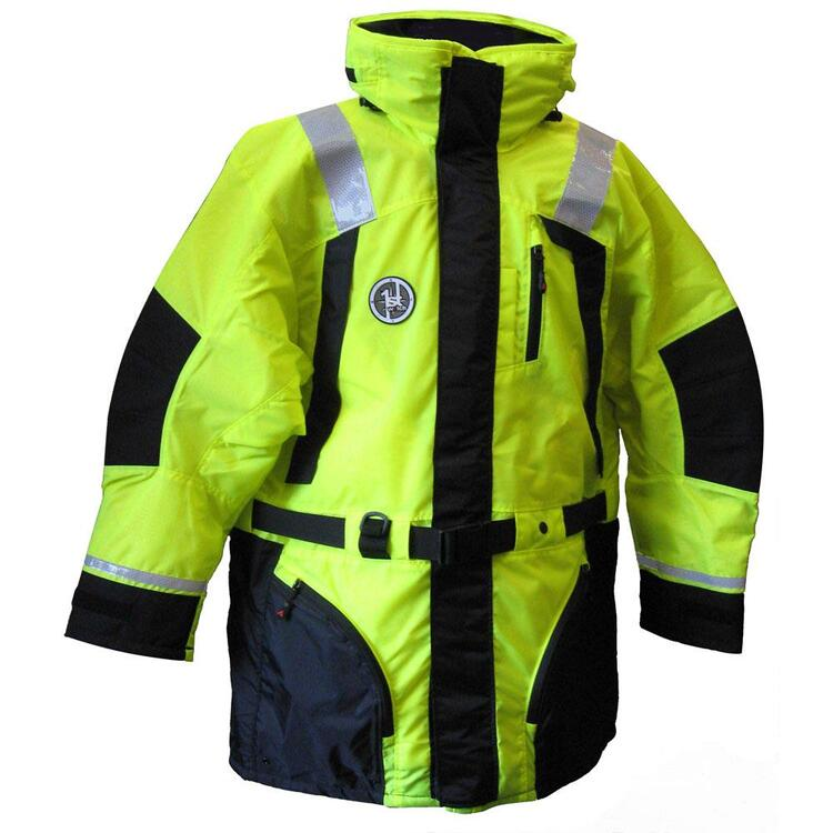 First Watch Hi-Vis Flotation Coat - Hi-Vis Yellow/Black - X-Large - [AC-1100-HV-XL]