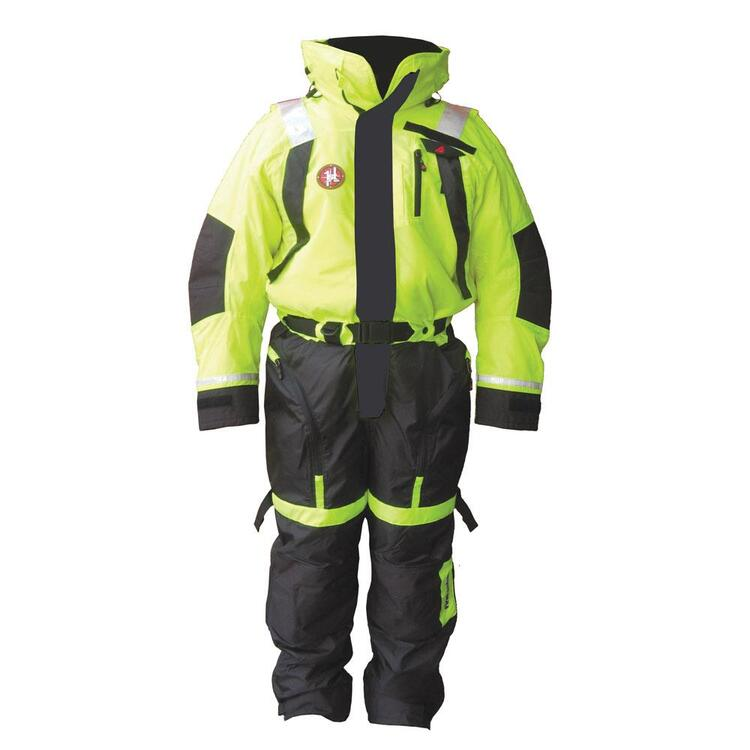 First Watch Anti-Exposure Suit - Hi-Vis Yellow/Black - X-Large
