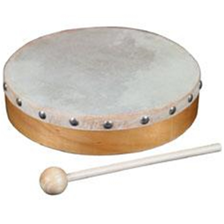 8in. Wood Hand Drum W/ Head