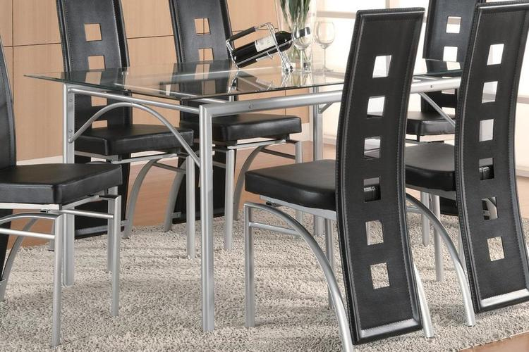 Coaster Home Los Feliz Contemporary Metal Dining Table