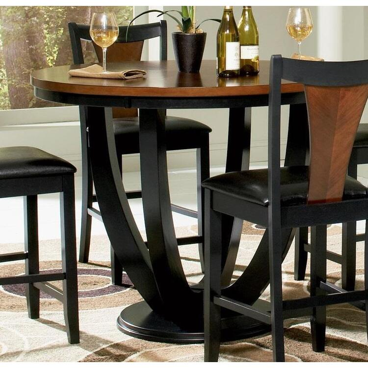 Coaster Boyer Casual Amber and Black Counter-Height Table