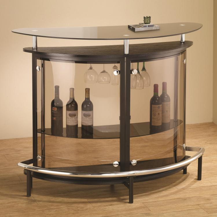 Coaster Bar Unit with Acrylic Front - [101065]