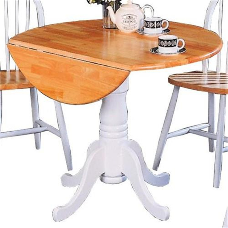 Coaster Round Country Natural Dining Table