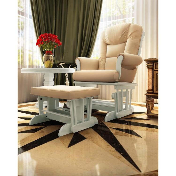 Naomi Home Deluxe Multiposition Sleigh Glider and Ottoman Set