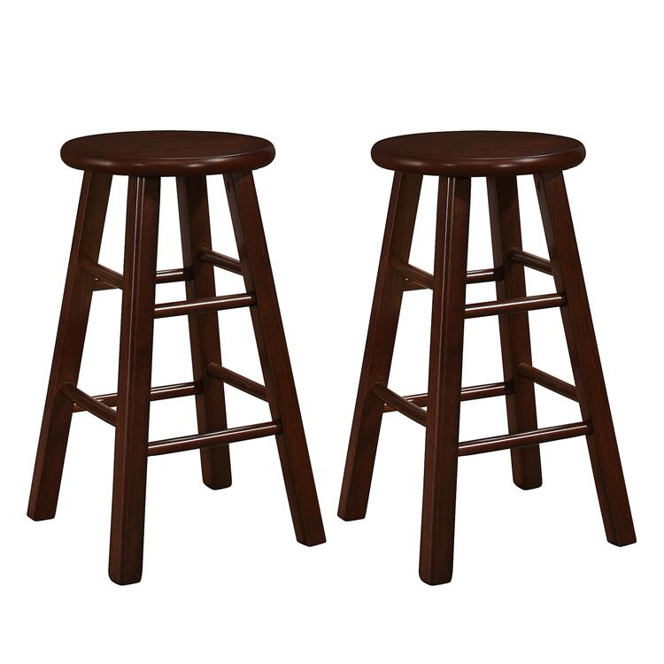 Naomi Home Montrose Wooden Stool (Set of 2)