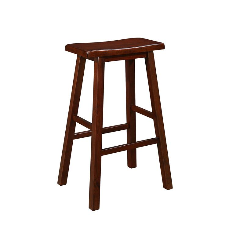 Naomi Home Longmont Wooden Saddle Stool