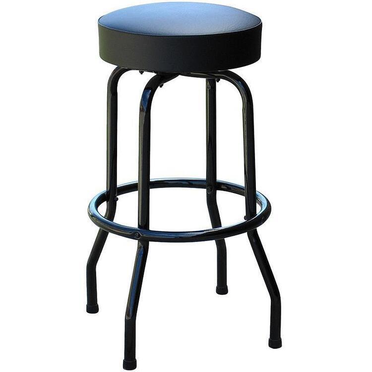 1950s Inspired Floridian Swivel Bar Stool - Black on Black