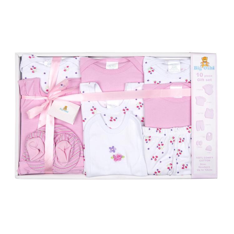 Big Oshi 10 Piece Layette Gift Set