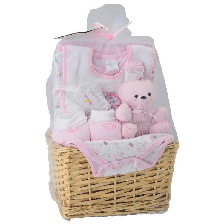 Big Oshi Baby Essentials 9 Piece Layette Basket Gift Set