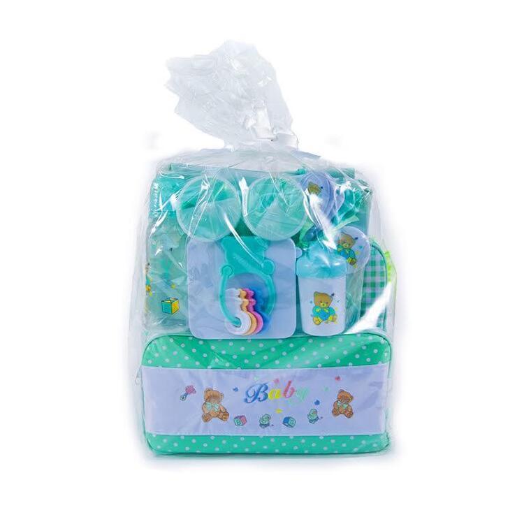 Big Oshi Baby Essentials 16 Piece Diaper Bag Feeding Gift Set Newborn