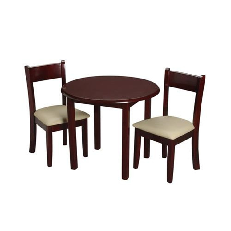 Children's Round Table with 2 matching Upholstered chairs
