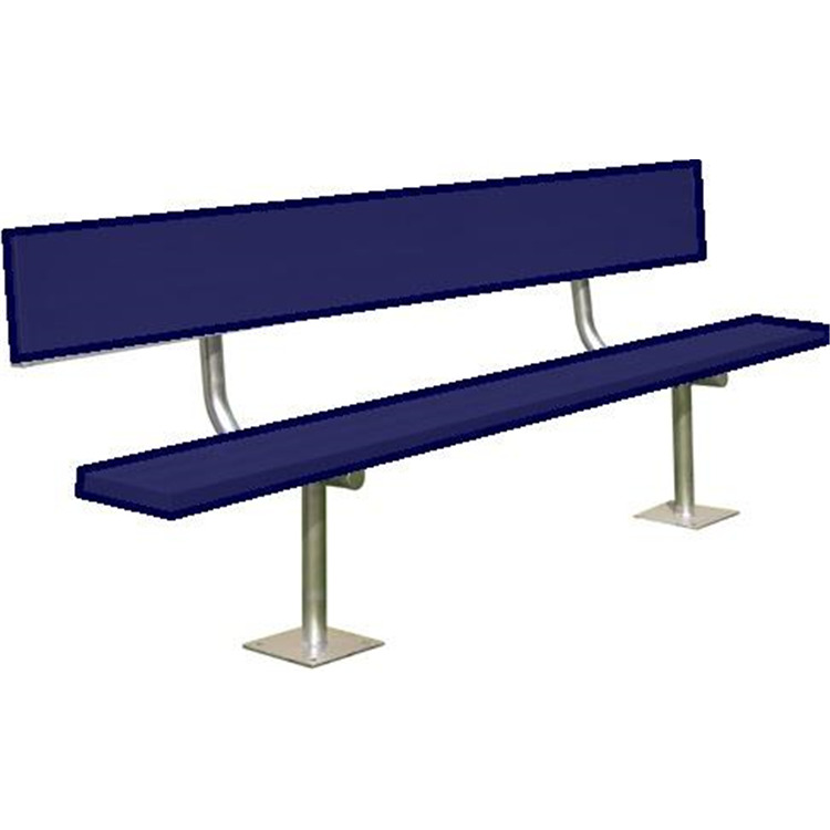 BSN Sports Powder-Coated Surface-Mount Player's Benches With Back