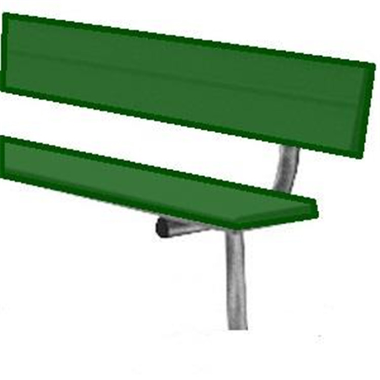 BSN Sports Powder-Coated In-Ground Player's Benches With Back