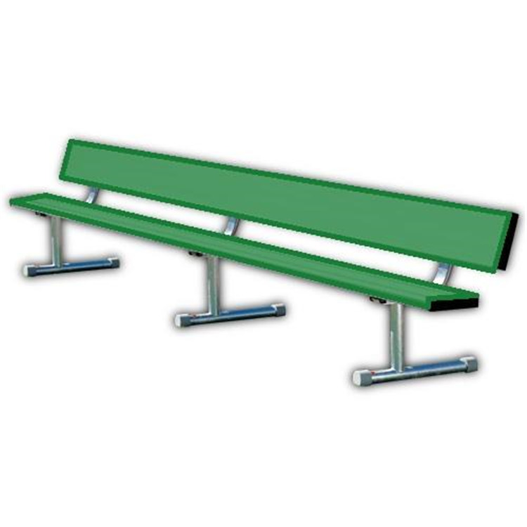 BSN Sports Powder-Coated Portable Player's Benches With Back