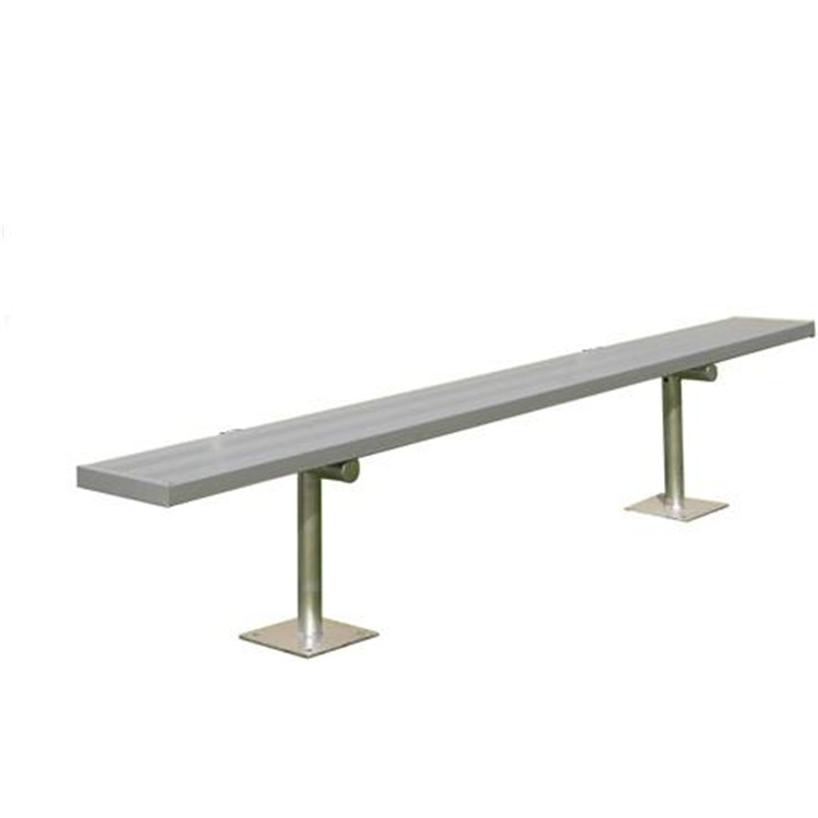 BSN Sports Anodized Aluminum Surface-Mount Player's Bench Without Back
