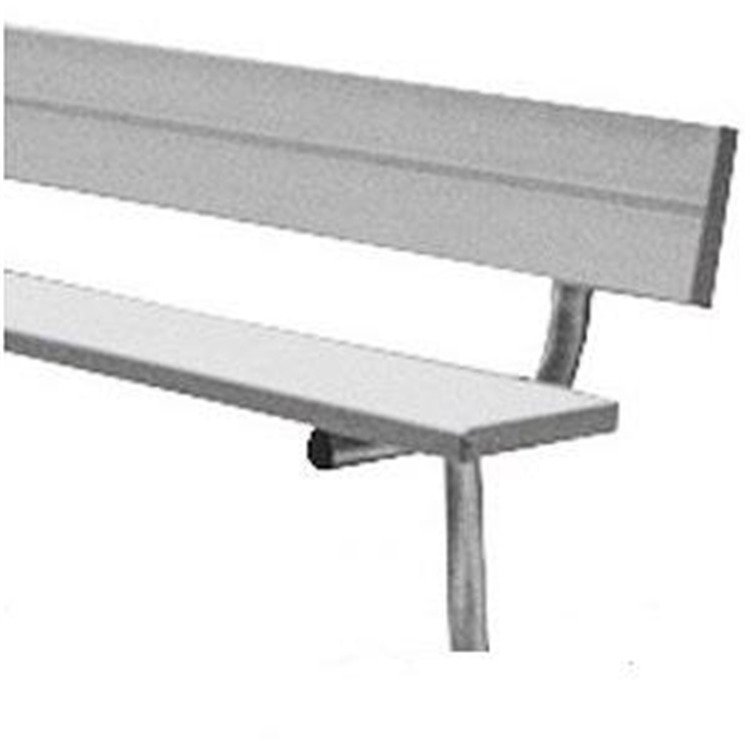 BSN Sports Anodized Aluminum In-Ground Player's Benches With Back