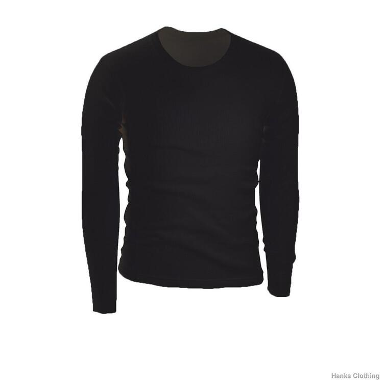 Poly-Lite Rib Thermal Underwear Mens Crew top LG