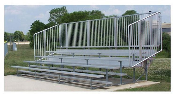 BSN Sports Standard Bleachers with Vertical Picket Railing [Item # NB0515V]