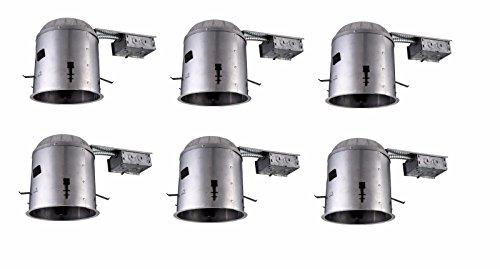 Elegant Furniture 5 inch ICAT REMODEL HOUSING, 120V, E26 SOCKET, FITS PAR30/BR30/A19, 75W MAX 6 PACK