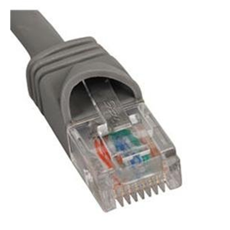 Patch Cord- Cat 6- Boot- 1' Gy