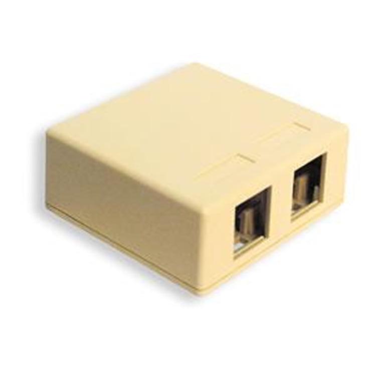 IC107SB2WH - SURFACE BOX 2PT White