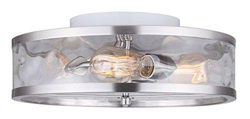 canarm Cala 3 Light Flush Mount with Watermark Glass