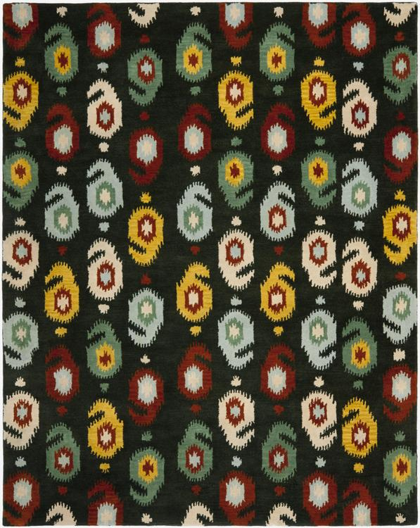 Traditional Rug - Ikat -Charcoal/Multi
