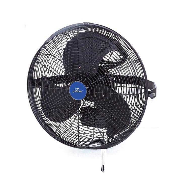 iLIVING 14 Inch Wall Mount Outdoor Misting Fan, Black