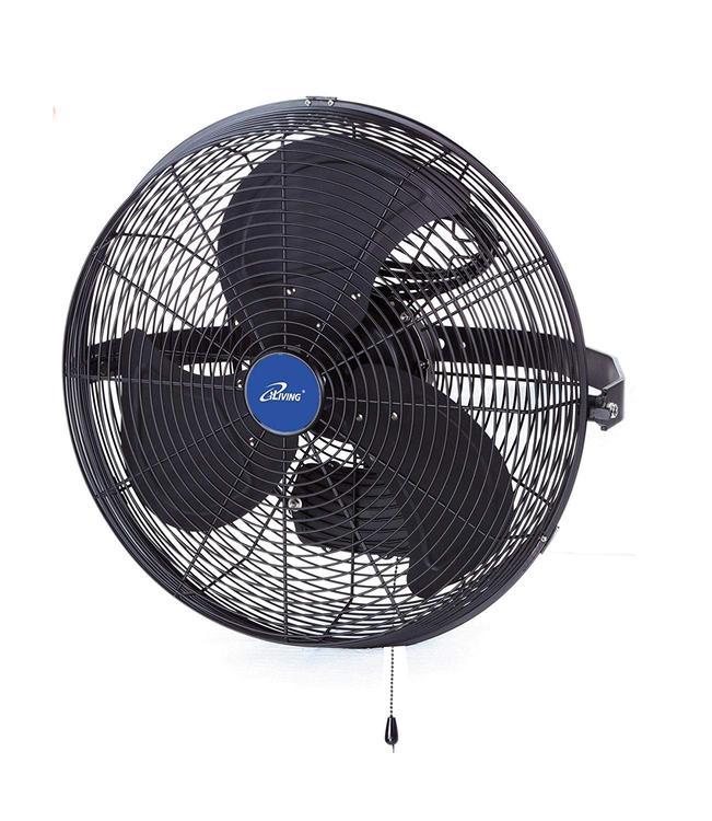 TLM iLIVING 14 Inch Wall Mount Outdoor Misting Fan, Black