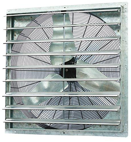 iLIVING 36 Inch Single Speed Shutter Exhaust Fan, Wall-Mounted