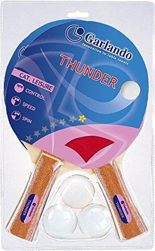 Garlando Thunder Paddle Set (2 Paddles 3 Balls)