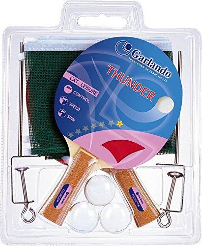 Garlando Thunder Plus Table Tennis Play Set (2 Paddles 3 Balls Net and Post)
