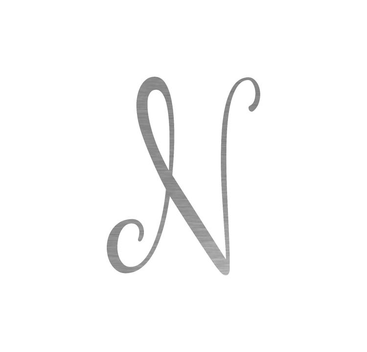 Precision Metal Art Initial Monogram Letter