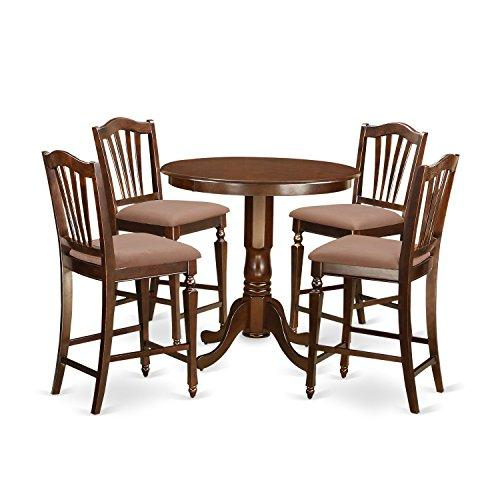 East West Furniture 3-Piece Kitchen Dinette Table and Stool Set