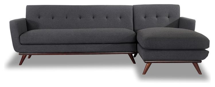 Prime Kardiel Jackie Mid Century Modern Sectional Sofa Charcoal Material Cashmere Ibusinesslaw Wood Chair Design Ideas Ibusinesslaworg
