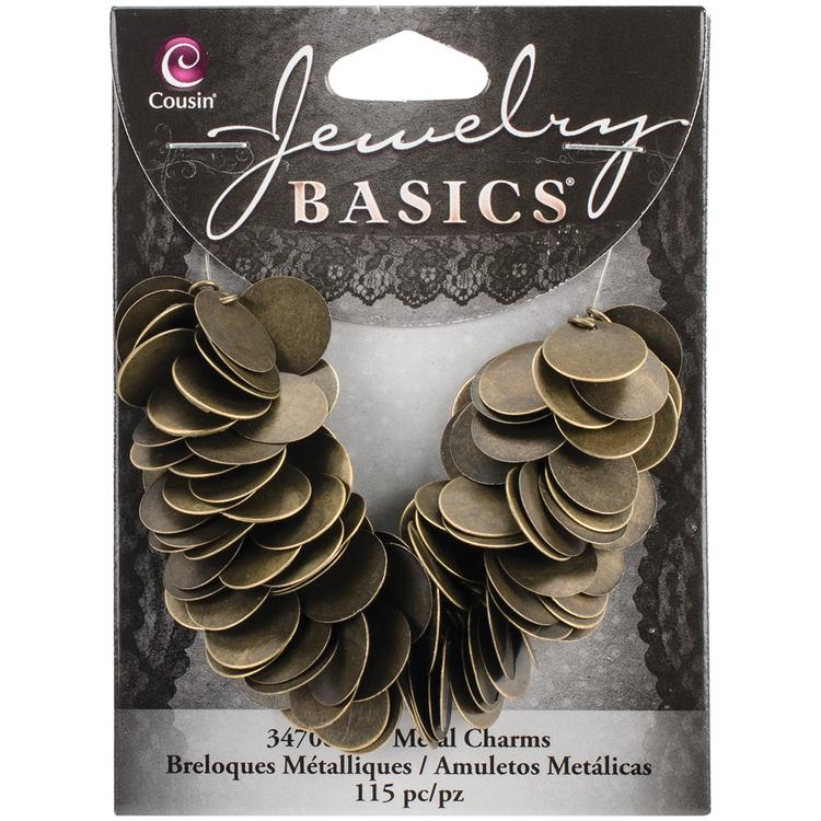 Jewelry Basics Metal Charms-Antique Gold Coins 115/Pkg