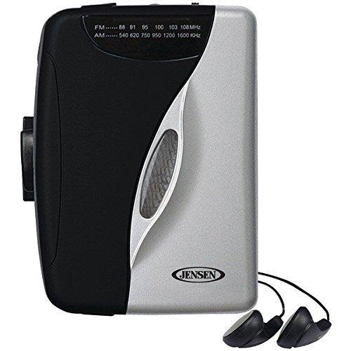 JENSEN SCR-68B Stereo Cassette Player with AM/FM Radio