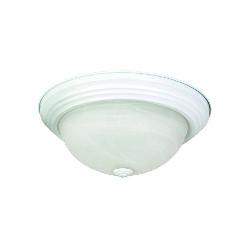 Yosemite Home Decor 2 Lights Flush Mount in White Finish