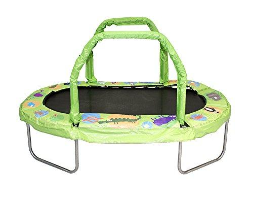 38 in. by 66 in. Green Mini Oval Trampoline