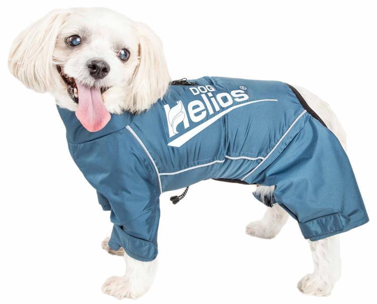 Dog Helios ® 'Hurricanine' Waterproof And Reflective Full Body Dog Coat Jacket W/ Heat Reflective Technology