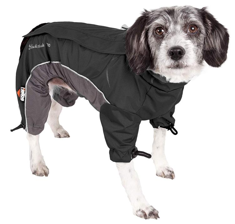 Helios Blizzard Full-Bodied Adjustable and 3M Reflective Dog Jacket - [JKHL4BKLG]