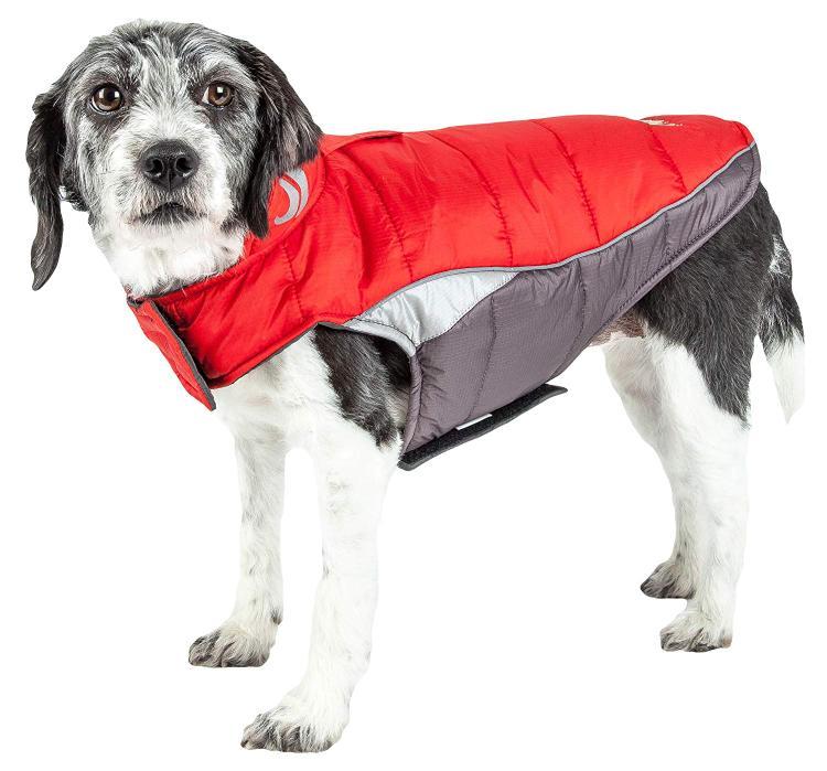 Helios Hurricane-Waded Plush 3M Reflective Dog Coat w/ Blackshark technology [Item # JKHL5RDXS]