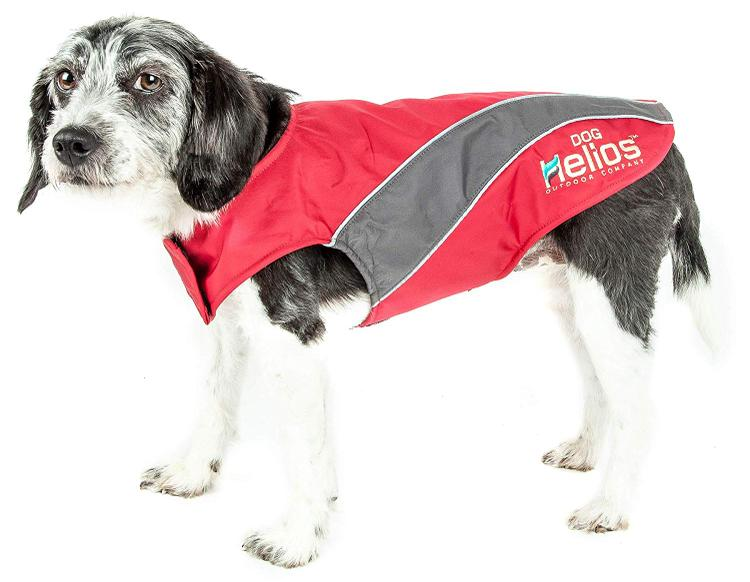 Helios Octane Softshell Neoprene Satin Reflective Dog Jacket w/ Blackshark technology