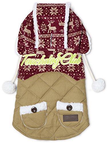 Touchdog Snowadayz Pom Pom Pet Hooded Sweater