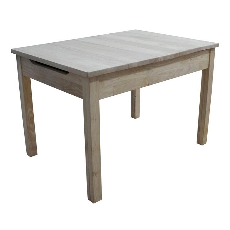 International Concepts Table with Lift Up Top for Storage