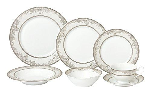 28 Piece Dinnerware Set-New Bone China Service for 4 People-Juliette