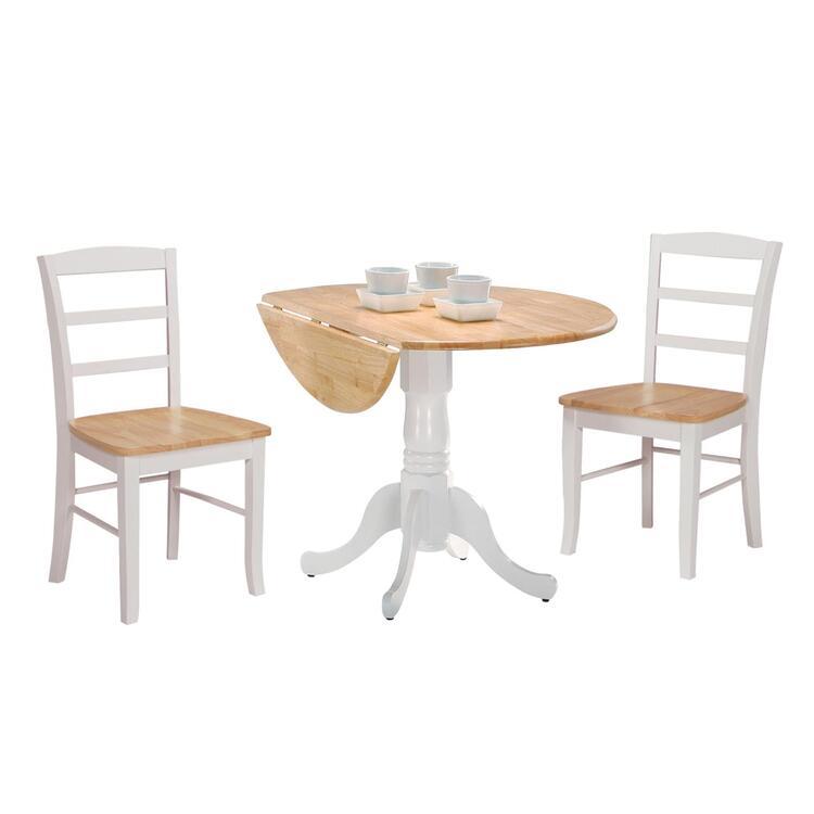 International Concepts Dual Drop Leaf Table Set