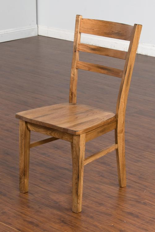 Sedona Ladderback Chairs with Wood Seat
